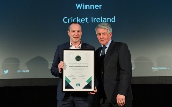 Cricket Ireland wins National Governing Body of the Year