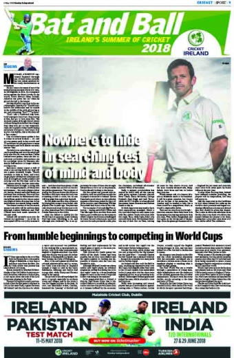 SPECIAL: Get your Sunday Independent cricket pull out this Sunday!