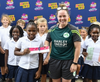 Ireland Women make 'Cricket for Good' visit to Antiguan school