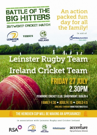 Leinster Rugby to play Cricket Ireland in Twenty20