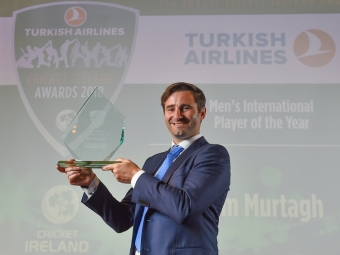 Murtagh, Delany take out top player awards at 2018 Turkish Airlines Cricket Ireland Awards