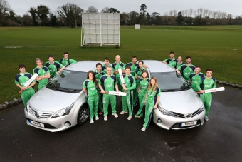 Toyota New Official Car Sponsor to Cricket Ireland