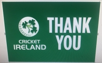 "A ""Thank You"" to frontline healthcare workers from Ireland Men's cricket team"