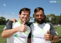 Thumbs uo from the Sussex pair of Ed Joyce and Carl Hopkinson ©Cricket Ireland/Barry Chambers