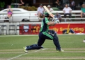 Ed Joyce is bowled for 49 ©Barry Chambers/Cricket Ireland