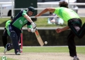 Niall O'Brien batting ©Barry Chambers/Cricket Ireland