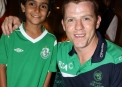 Niall O'Brien with a young fan © Cricket Ireland/Barry Chambers
