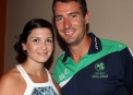 Max Sorensen with girlfriend Jillian © Cricket Ireland/Barry Chambers