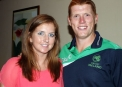 Kevin O'Brien with his girlfriend Ruth-Anne © Cricket Ireland/Barry Chambers