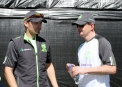 Ireland captain William Portefield with Michael Caufield ©Cricket Ireland/Barry Chambers