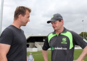 Brett Lee and Michael Caufield