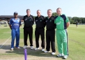 Captains and umpires at the toss ©Barry Chambers