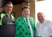Shay Livingstone with Ireland manager Roy Torrens and President Joe Doherty