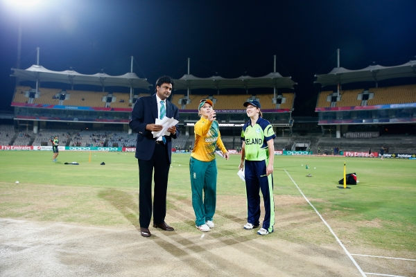 Captains with match referee Javagal Srinath.