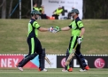 Andrew Balbirnie congratulated by Kevin O'Brien ©Cricket Ireland/Barry Chambers