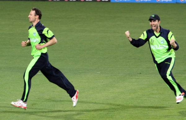 Alex Cusack bowled an incredible final over to secure the win against Zimbabwe.