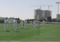 Ireland come off the field at the Global Cricket Academy Ground in Dubai