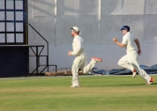 Paul Stirling chases a ball in the second ICup match of the year in Namibia.