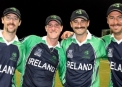 The Mo brothers Alex Cusack, John Mooney, Tim Murtagh and Max Sorensen celebrate