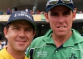Trent Johnston with Australia captain Ricky Ponting at the 2007 World Cup © Barry Chamber