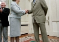 Trent Johnston meets President Mary McAleese before the 2007 World Cup © Inpho