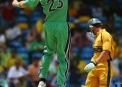 Trent Johnston celebrates the wicket of Australia's Adam Gilchrist at the 2007 World Cup © Inpho