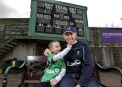 Trent Johnston and son Charlie © Inpho