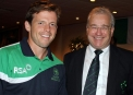 Ed Joyce with Cricket Ireland Chairman Ross McCollum © Cricket Ireland/Barry Chambers