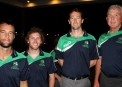 Nigel Jones, Brendan Connor, Alex Cusack, Craig McDermott © Cricket Ireland/Barry Chambers