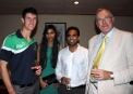 George Dockrell, David Williams with some local Sri Lankans © Cricket Ireland/Barry Chambers