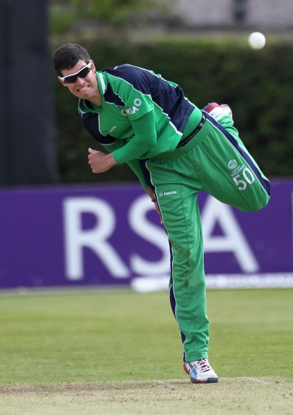 George Dockrell bowled a fantastic spell and Pakistan were in deep trouble ©INPHO/Kieran Murray