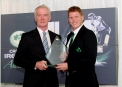 Pat Nally of RSA presents the 2014 Senior International Player of the Year Award to Kevin O'Brien ©INPHO/Ryan Byrne