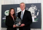 Pat Nally of RSA presents the 2014 Senior International Player of the Year Award to Cecelia Joyce ©INPHO/Ryan Byrne
