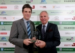 Ryan Eagleson accepts the Tildenet Club of the Year from Joe Downey ©INPHO/Ryan Byrne