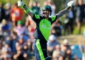 John Mooney celebrates hitting the winning runs ©INPHO/PHOTOSPORT/Chris Symes