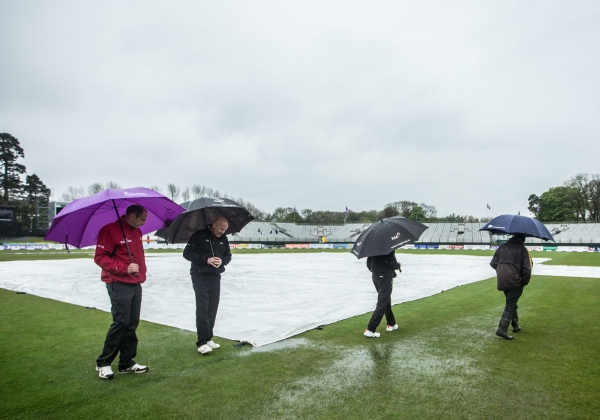 The home summer got off to a wet start as England visited.