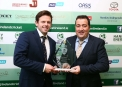 The Hanley Energy Men's Player of the Year Ed Joyce with Dennis Nordon, Managing Director Hanley Energy