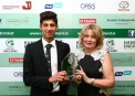 The Castleknock Hotel Junior Player of the Year Vaurn Chopra with Gael Cooke Allen, Sales Manager Castleknock Hotel & Country Club