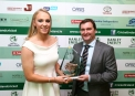 The Toyota Women's Player of the Year Kim Garth with Ian Corbett, Marketing Manager Toyota Ireland