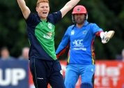 Kevin O'Brien appeals for LBW