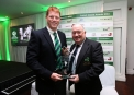 RSA Senior Internation Player of the Year Kevin O'Brien with Cricket Ireland President Joe Doherty ©INPHO/Ryan Byrne