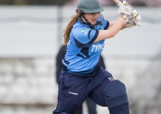 Louise McCarthy drives one through the covers