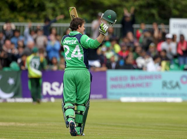 Ed Joyce scored his first ODI century for Ireland against Pakistan at Clontarf