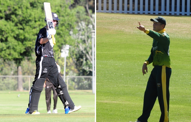 James McCollum (left) acknowledges a half-century; Jack Tector (right) captaining his club in Sydney