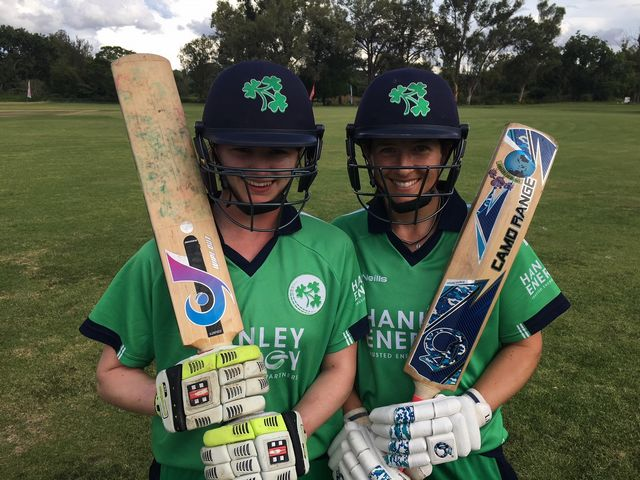 Rachel Delaney and Isobel Joyce shared a 171-run stand
